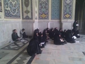 اردوی زیارتی مشهد91 دانش آموزان دختر سادات