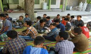 اردوی زیارتی تفریحی دانش آموزان پسر قم در روستای کرمجگان (قم)